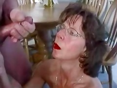 mature ejaculation facials