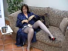 Grandma in pantyhose and nylons